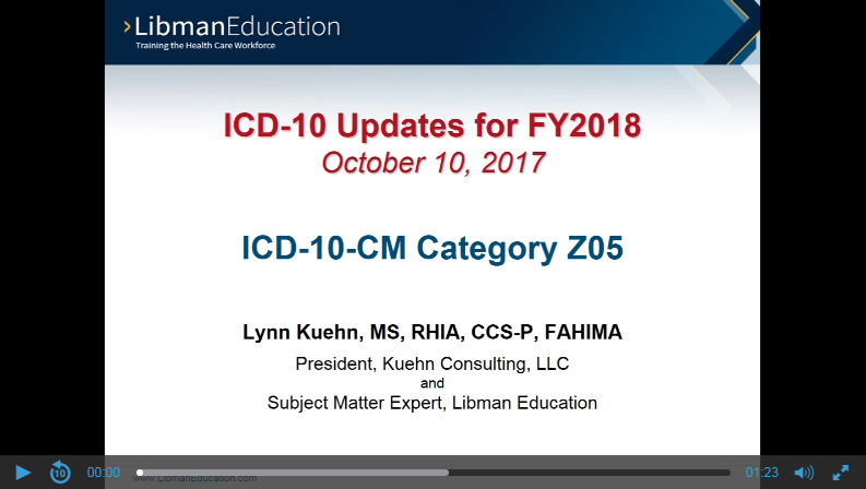 ICD-10-CM Category Z05 (ICD-10 Updates for FY2018)