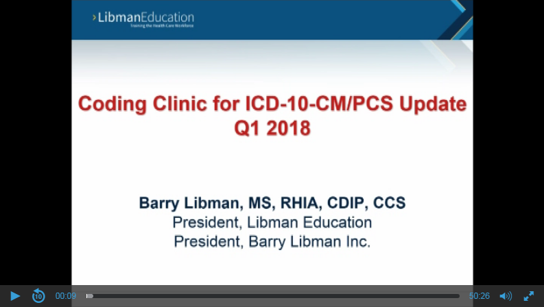 Coding Advice and Clarifications: Commentary on Selected Topics from Coding Clinic Q1, 2018