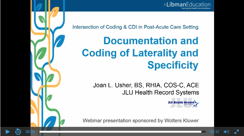 Documentation and Coding of Laterality and Specificity