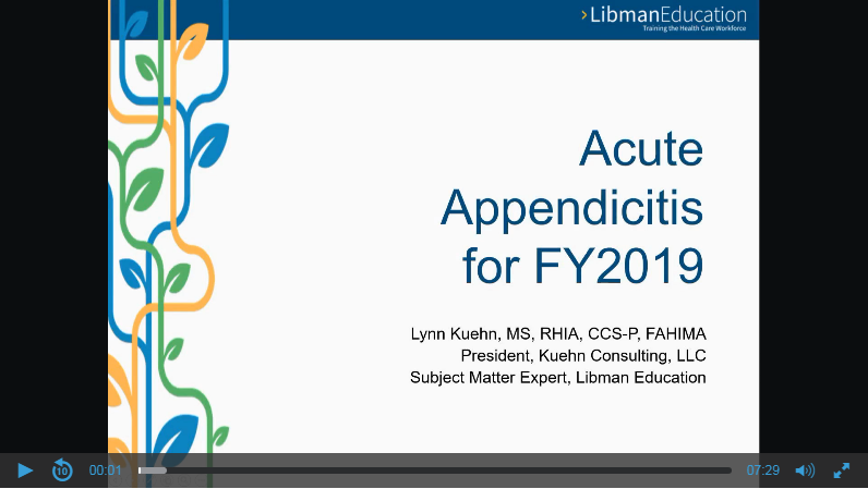 Acute Appendicitis for FY2019