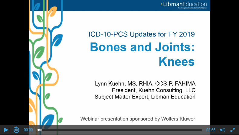 ICD-10-PCS Updates for FY 2019: Bones & Joints: Knees