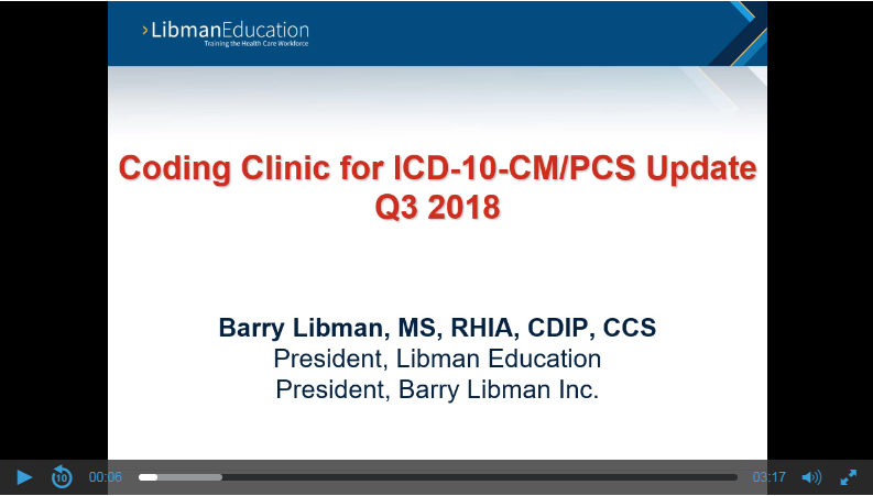 ICD-10 Coding Clinic Update (Q3 2018): DM and Pressure Ulcer