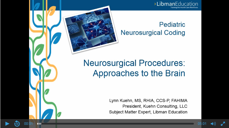 Pediatric Neurosurgical Coding: Approaches to the Brain