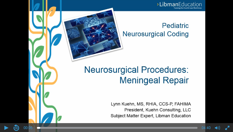 Pediatric Neurosurgical Coding: Meningeal Repair