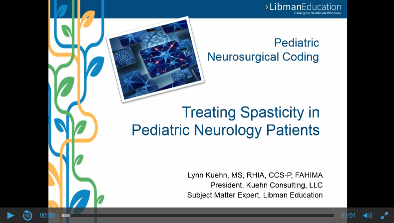 Pediatric Neurosurgical Coding: Treating Spasticity in Pediatric Neurology Patients