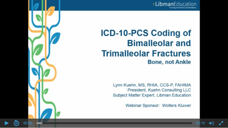ICD-10-PCS Coding of Bimalleolar and Trimalleolar Fractures