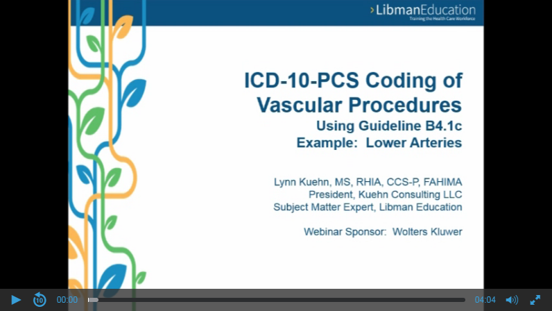 ICD-10-PCS Coding of Vascular Procedures Using Guideline B4.1c