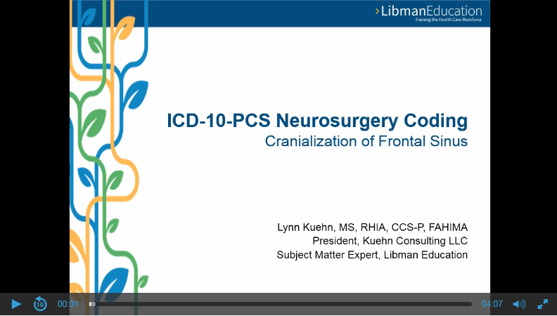 ICD-10-PCS Neurosurgery Coding: Cranialization of Frontal Sinus